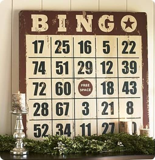 pottery barn bingo art