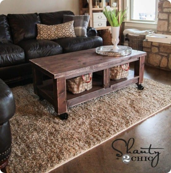 Square Coffee Table Diy: Square Coffee Table With Turned Legs