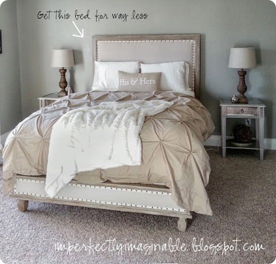 restoration hardware inspired bed