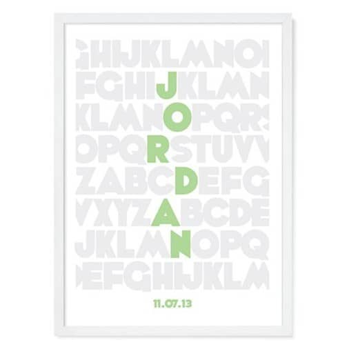 alphabet personalized wall art