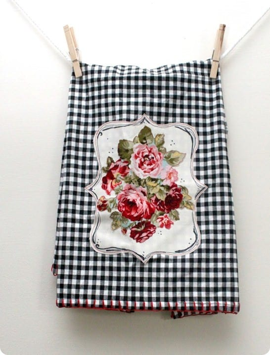 anthropologie inspired kitchen towel