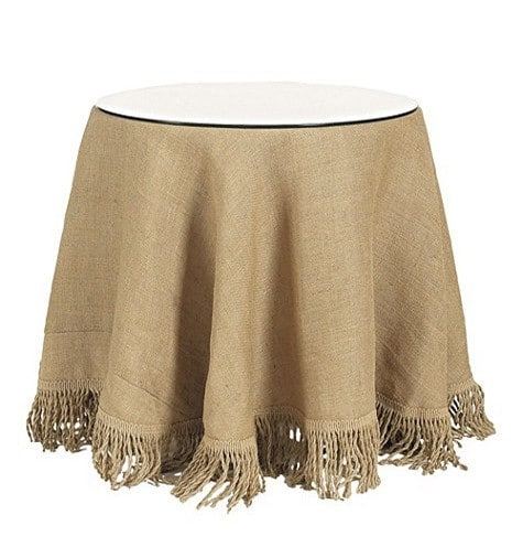 ballard burlap tablecloth