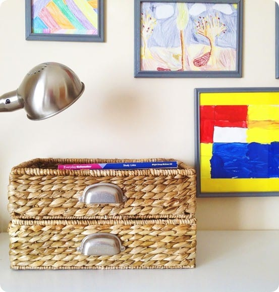 baskets with metal handles