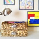 Woven Storage Basket with Metal Handles