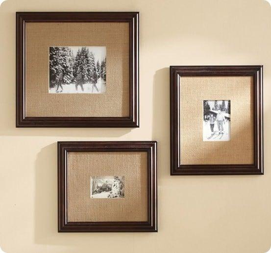 burlap mat frame
