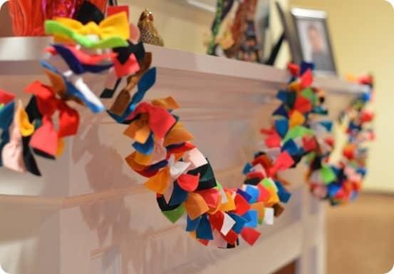 colorful felt garland