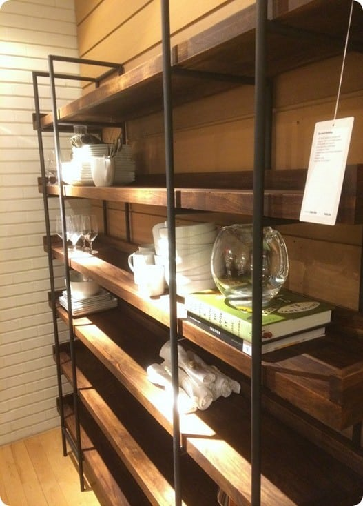 crate and barrel industrial shelving