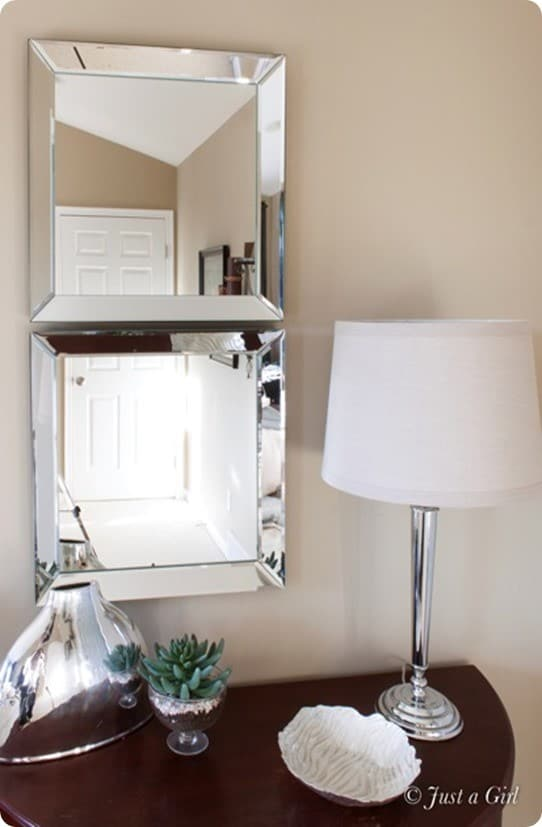 diy beveled mirrors