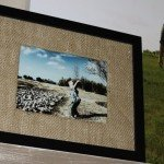 Frames with DIY Burlap Matting