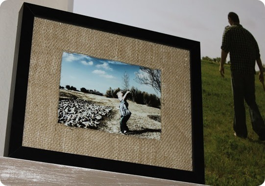 Frames With Diy Burlap Matting Knockoffdecor Com