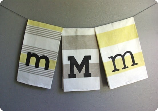 diy monogram towel