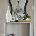 Fabric-Covered Parsons Console Table