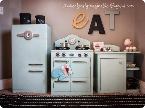 Retro Play Kitchen With All The Bells And Whistles