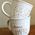 Metallic Polka Dot Sharpie Art Mugs