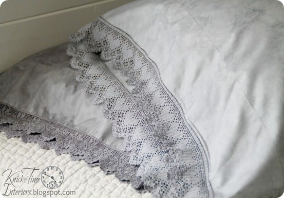 dyed lace pillowcases