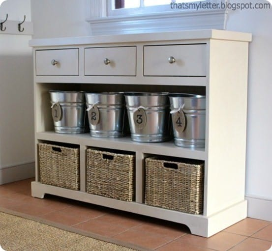 Entryway storage console that has it all Console tables with storage