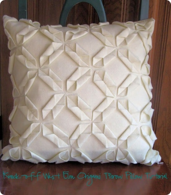 felt origami pillow