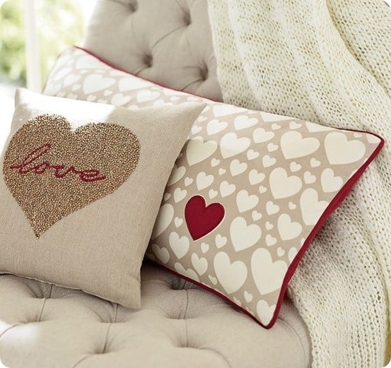 heart lumbar pillow cover