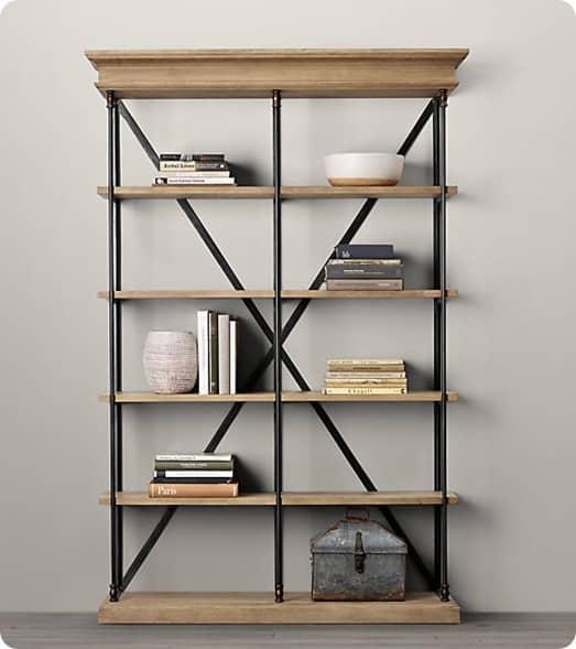 parisian cornice bookcase