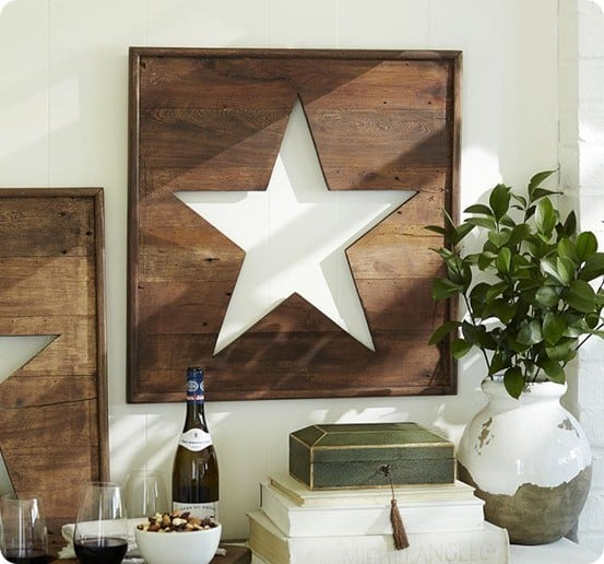pierced wood star panel