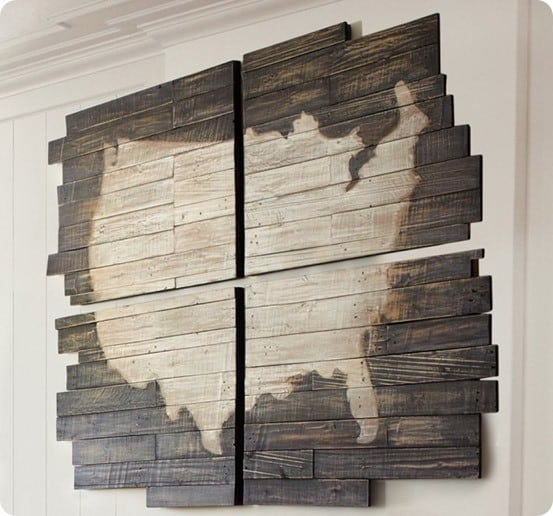 Planked Wood United States Wall Map Knockoffdecor Com