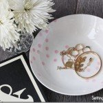 Pretty in Pink Polka Dot Painted Dish