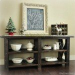 Rustic X Dining Room Buffet