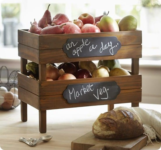 stackable fruit crate from Pottery Barn