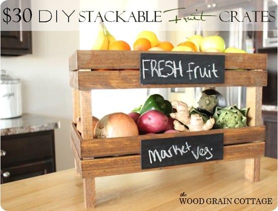 stackable fruit crate