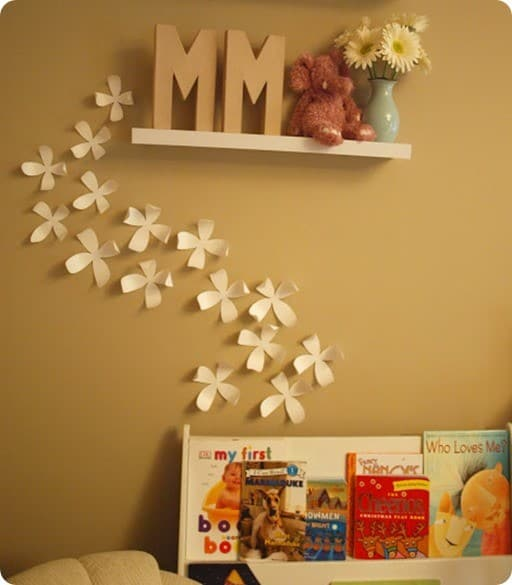 Whimsical Paper Flower Wall Décor