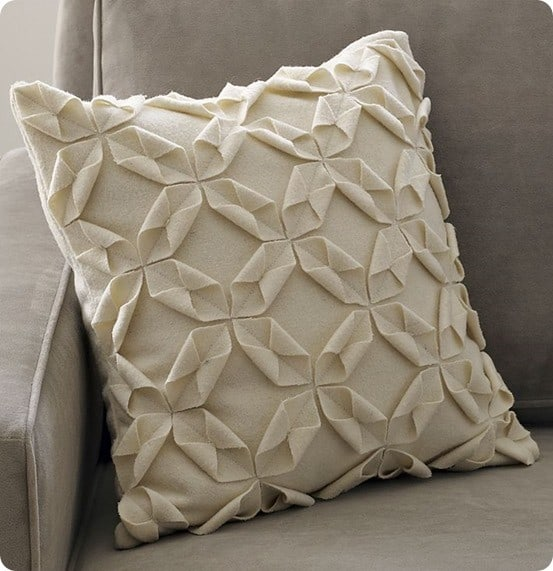 west elm felt origami throw pillow