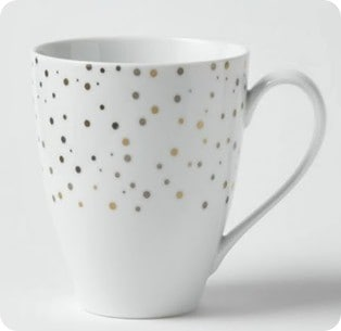 west elm polka dot mug