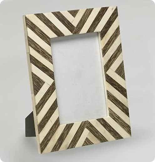 west elm wood and bone frame