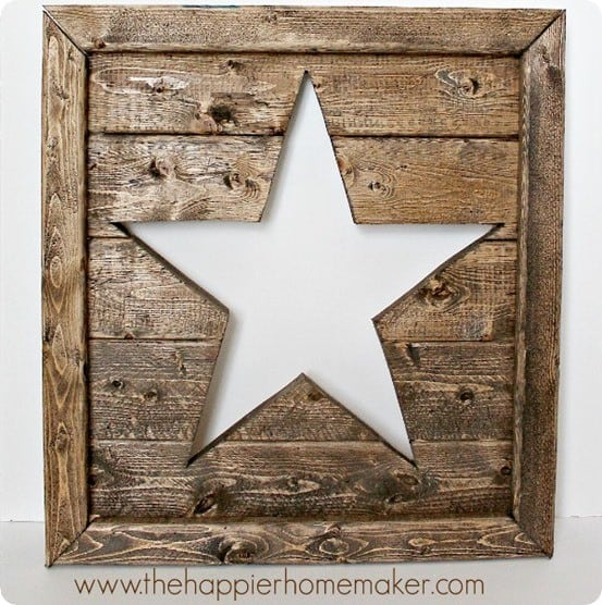 Wooden Star Cutout Wall Dcor