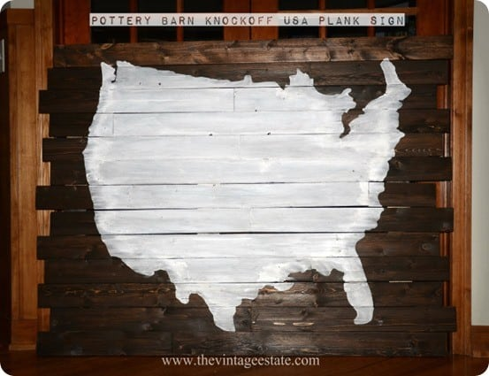 Wood United States Map.Planked Wood United States Wall Map Knockoffdecor Com