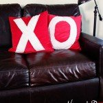Nothing Beats a Hug and a Kiss! {DIY Valentine's Pillows}