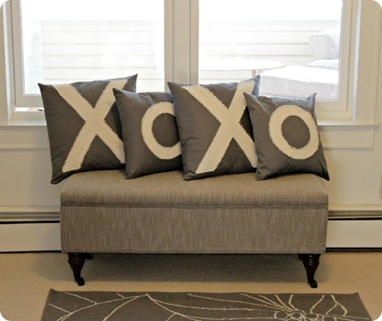 xoxo valentines pillows