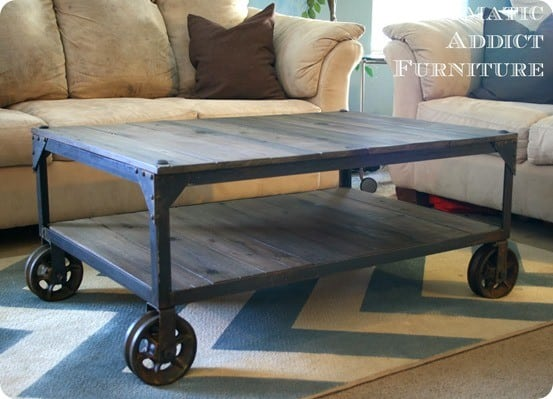 DIY Industrial Coffee Table 1