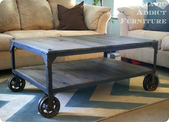 DIY Industrial Coffee Table 1