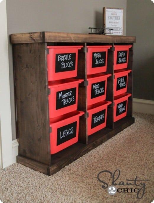 Genial DIY Toy Storage Unit 500x750