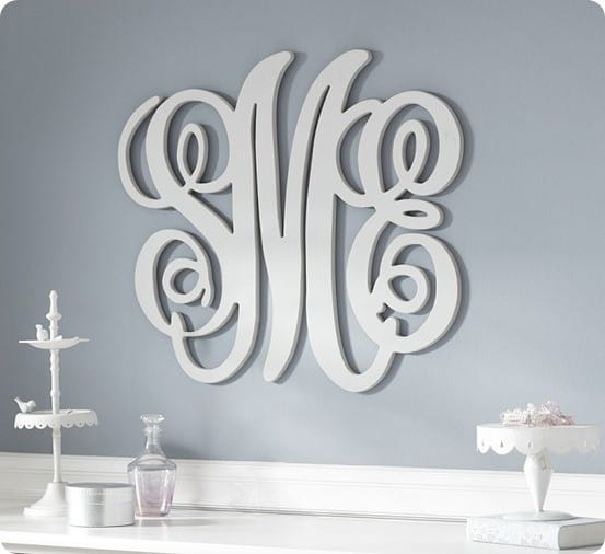 Personalized Wood Wall Decor : Custom wood wall monograms for less