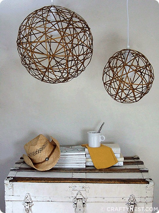 bamboo orb pendant light