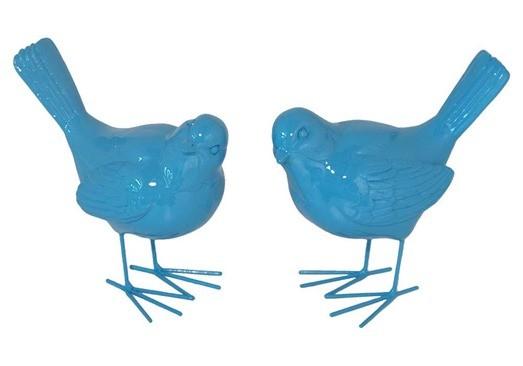 Painted Wood Bird D 233 Cor