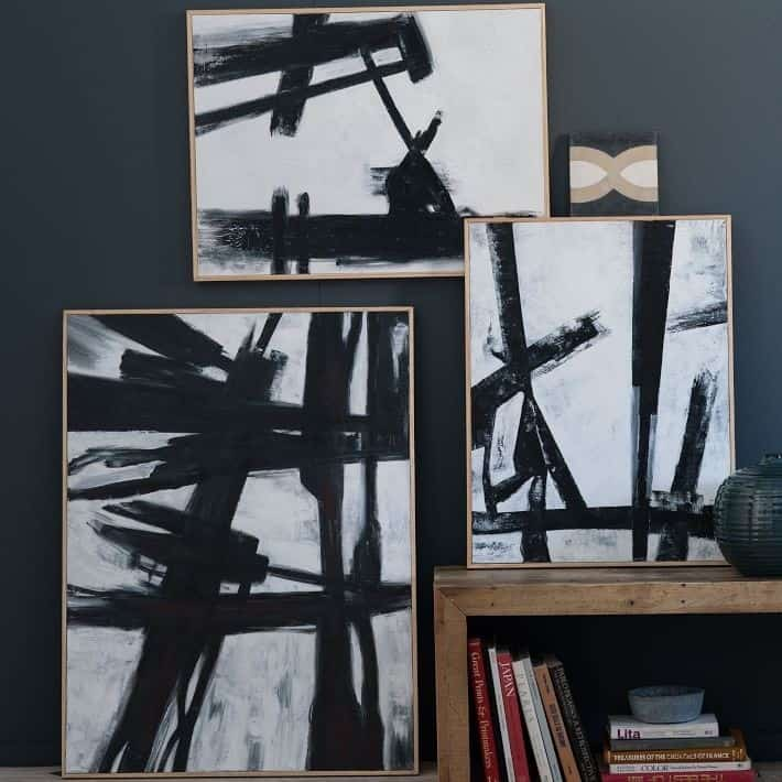Black and white abstract art anyone can paint for Modern black and white wall art
