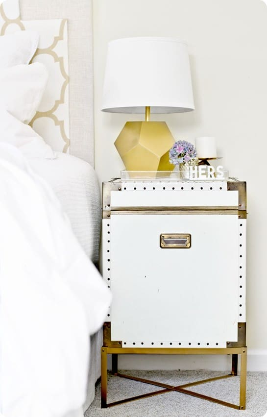 Campaign Chest Nightstand With Diy Metal Base