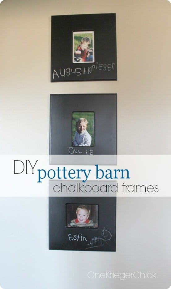 Paint Your Own Chalkboard Frames