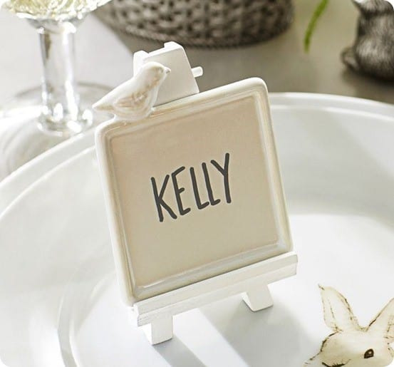 chick easel place card holder