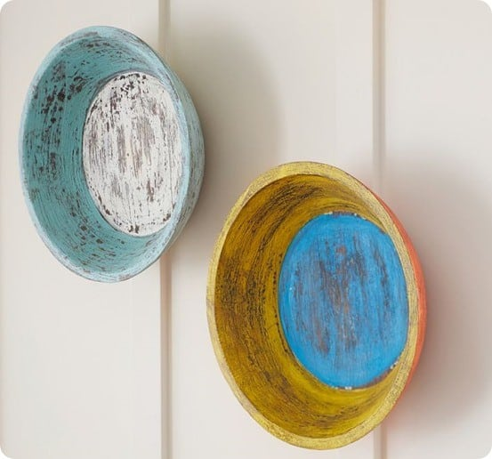 colored wood bowls