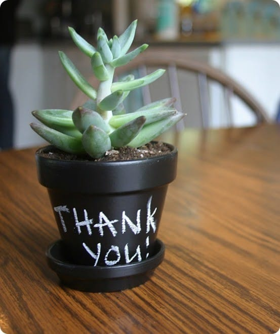 diy chalkboard pot