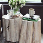 Tree Stump Side Tables with Casters
